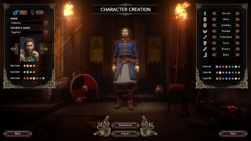 character creation m