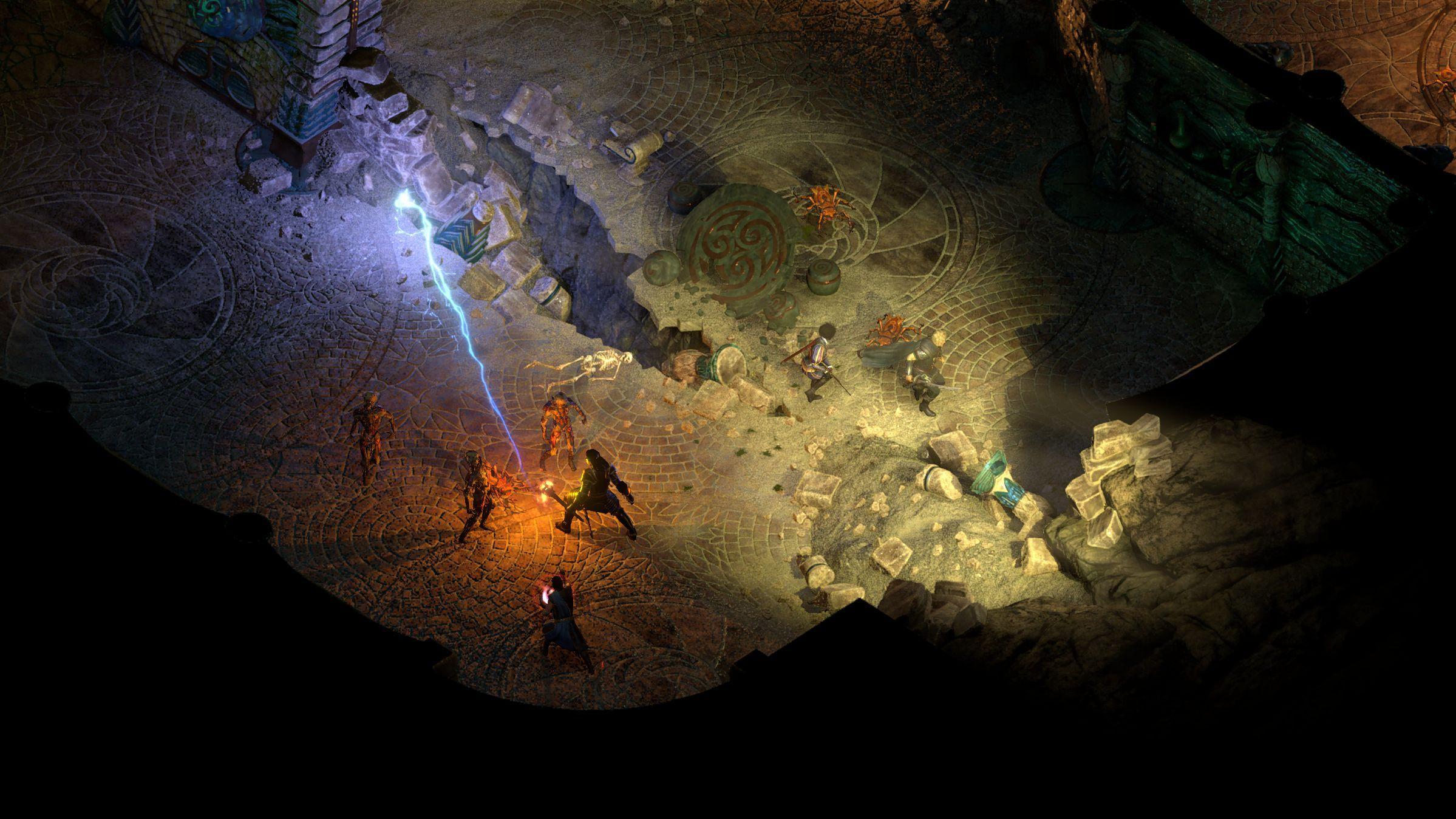 pillars deadifre dungeon fight