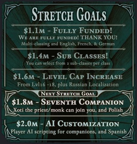 poe2 stretch goals