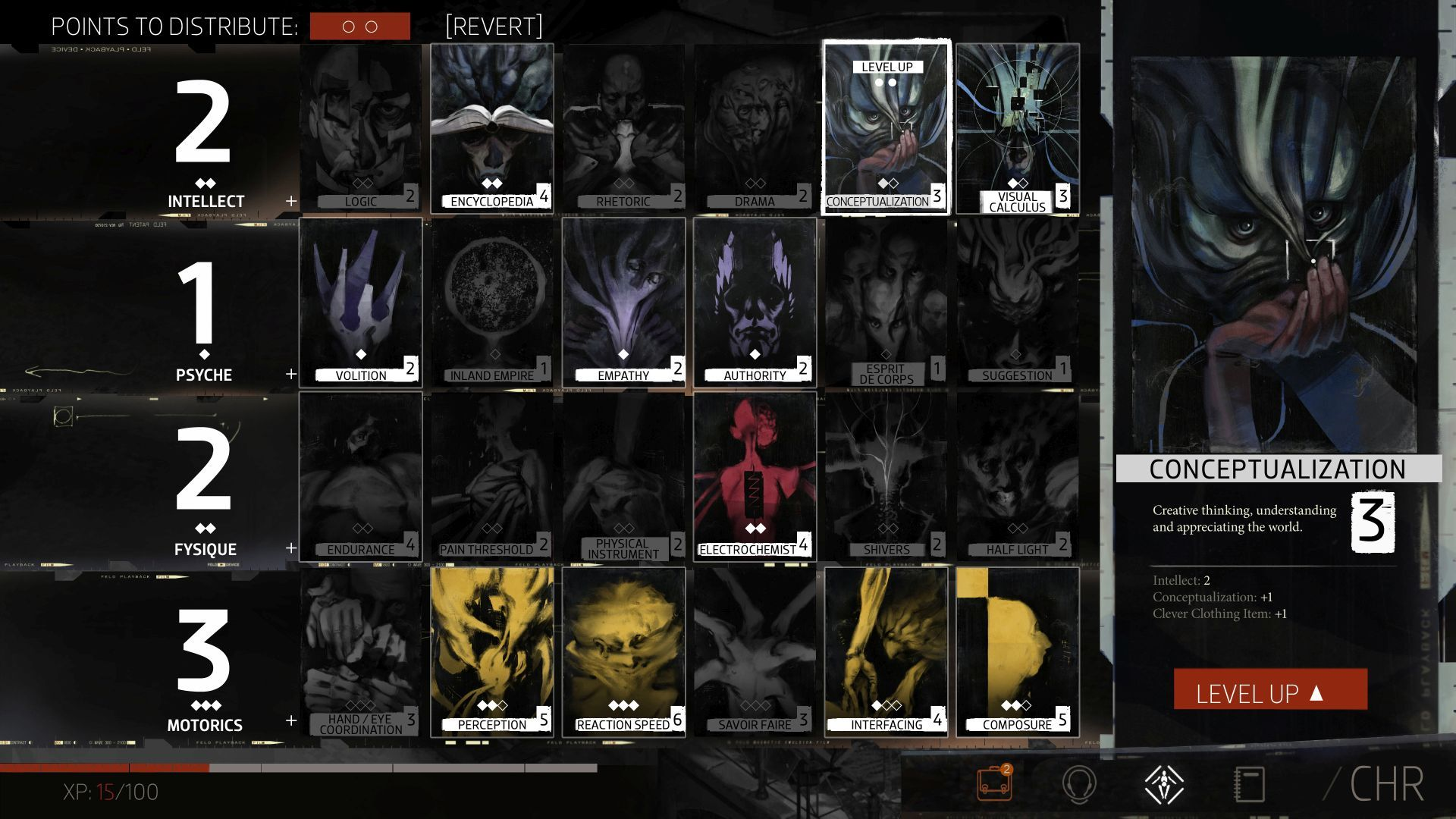 character sheet skill array 2