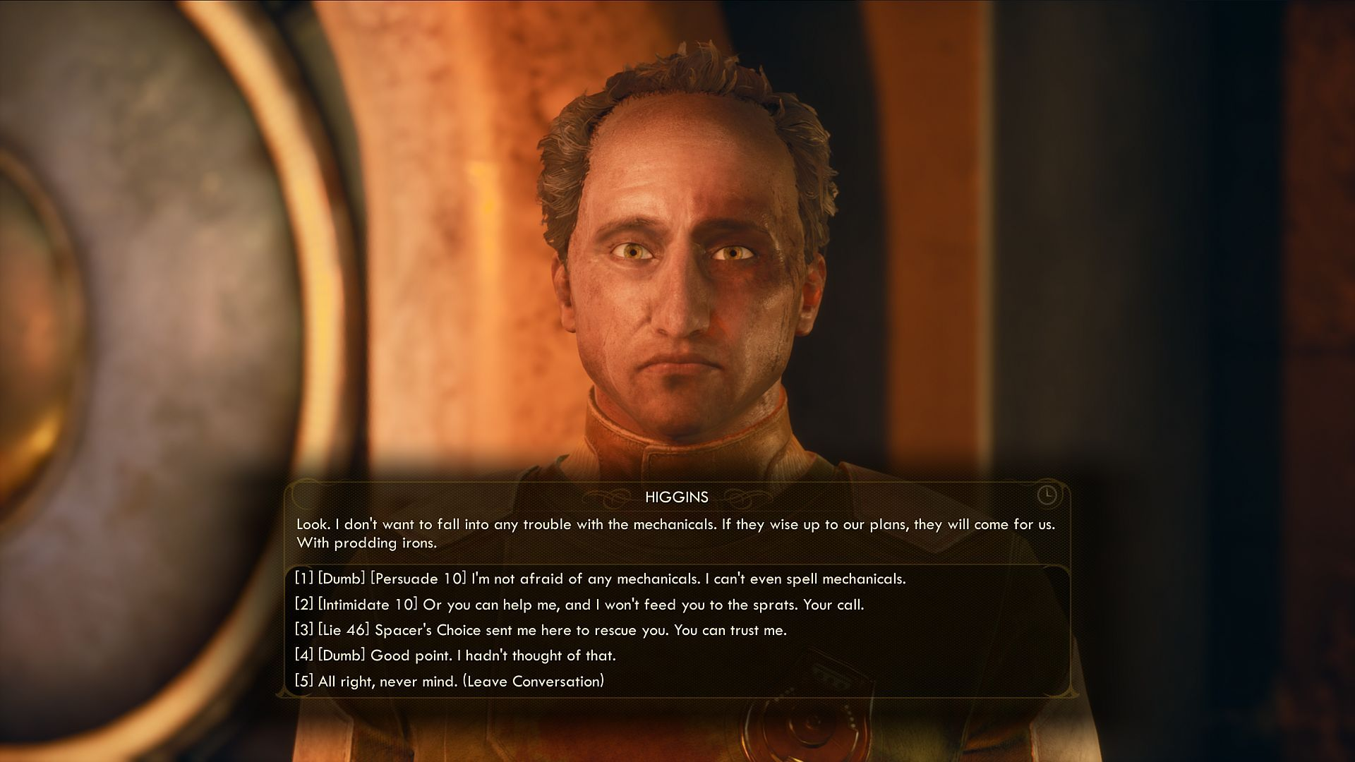 the outer worlds dialogue choices