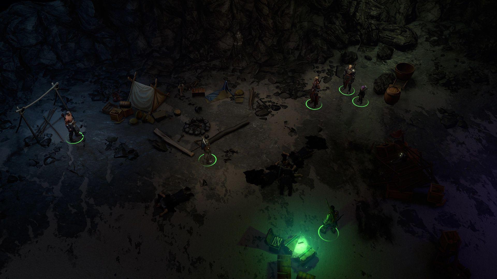 gibbering swarm cave camp