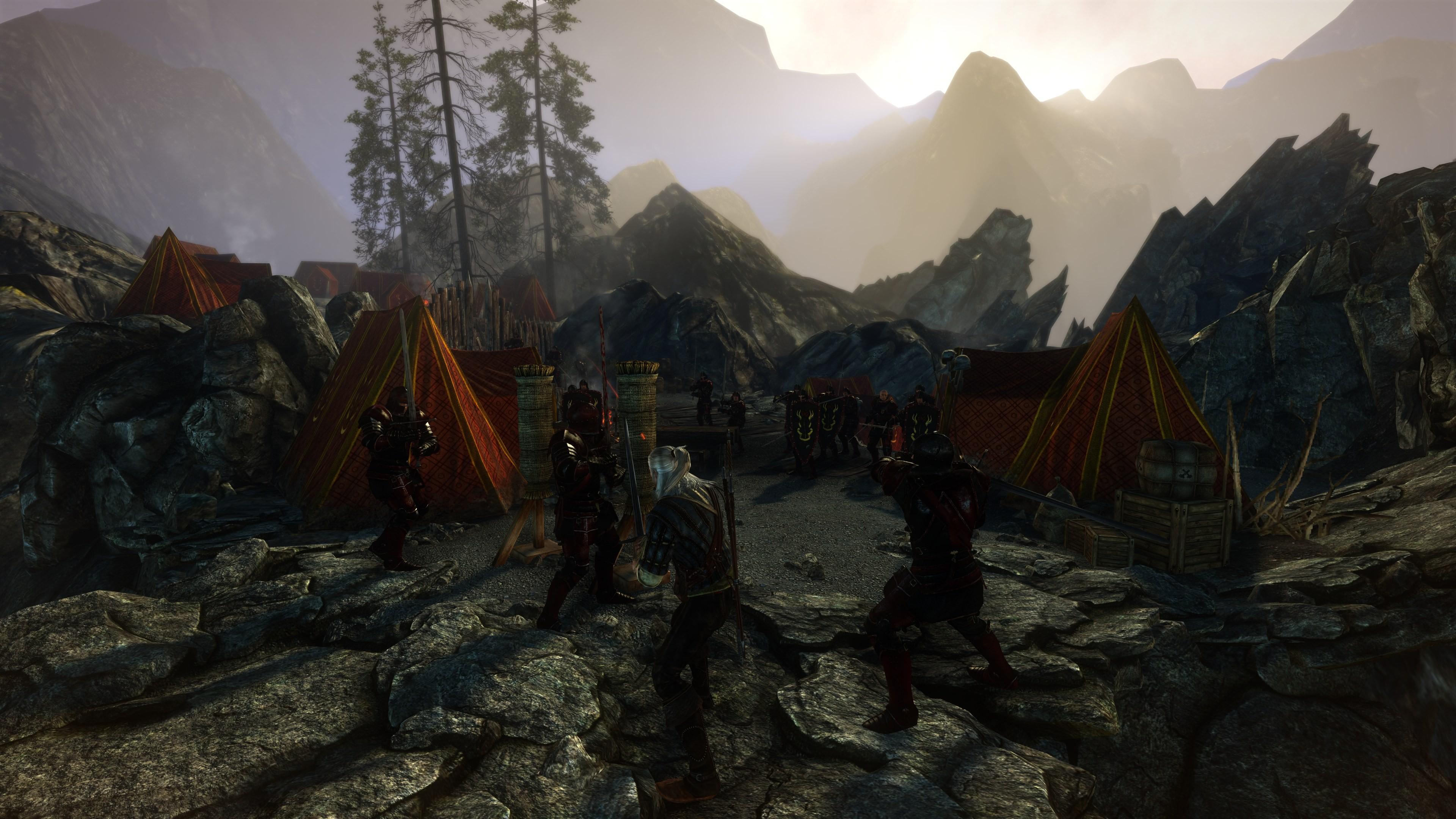 at enemy encampment