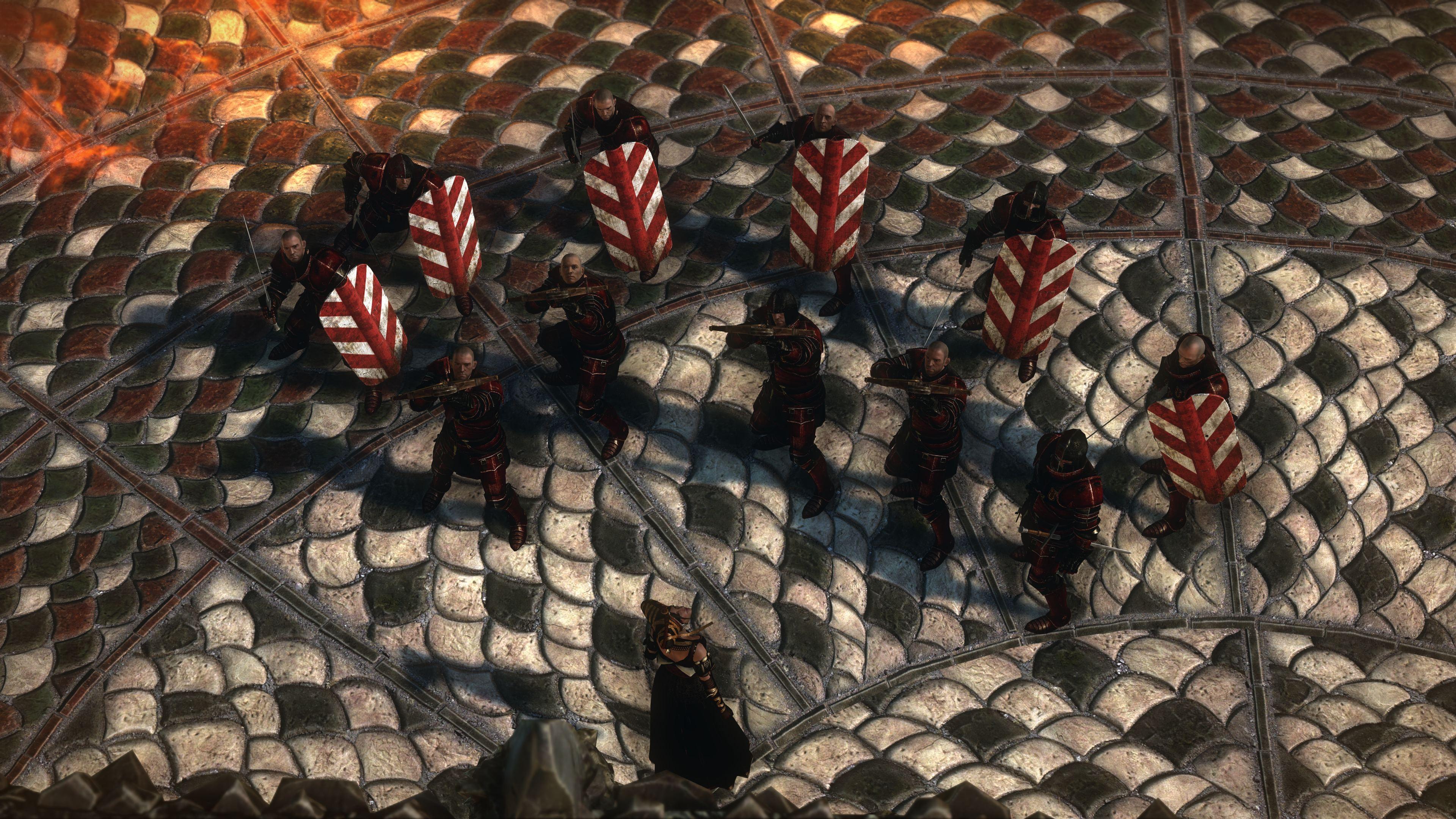 knights preparing for battle